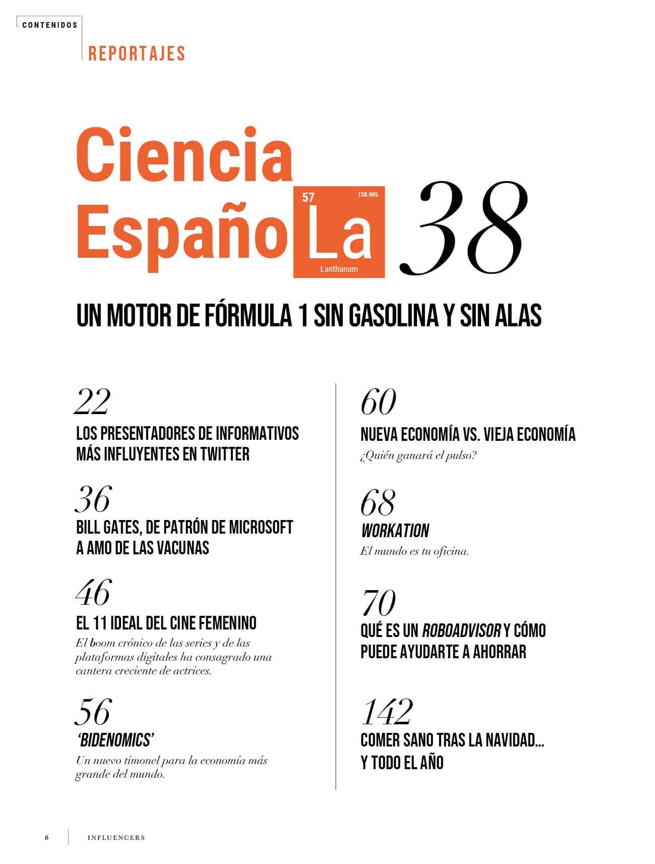 Ciencia Española | Revista influencers