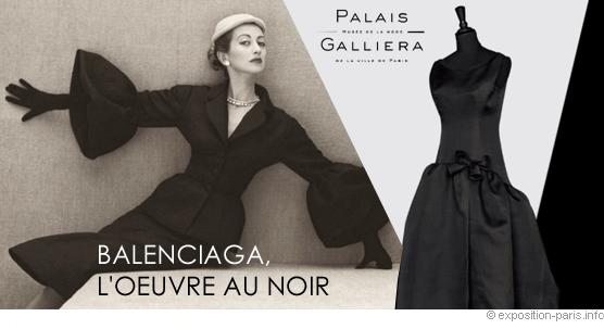 París expone 'la obra en negro' de Balenciaga