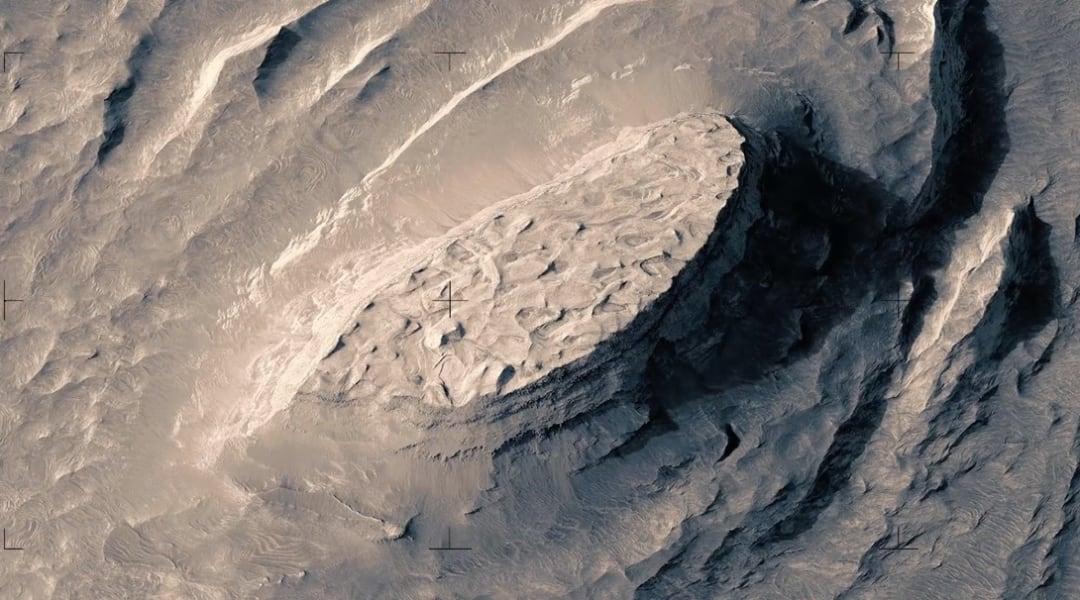 Un vuelo ficticio sobre Marte