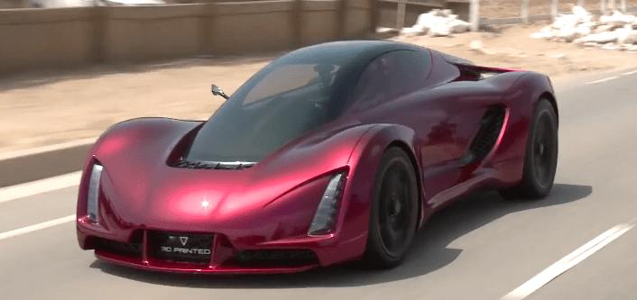 Un coche impreso en 3D de 700 caballos.