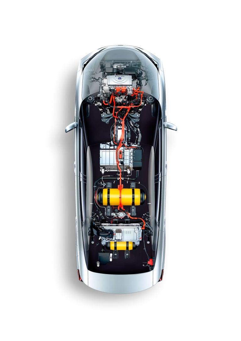 El coche de hidrógeno avanza.