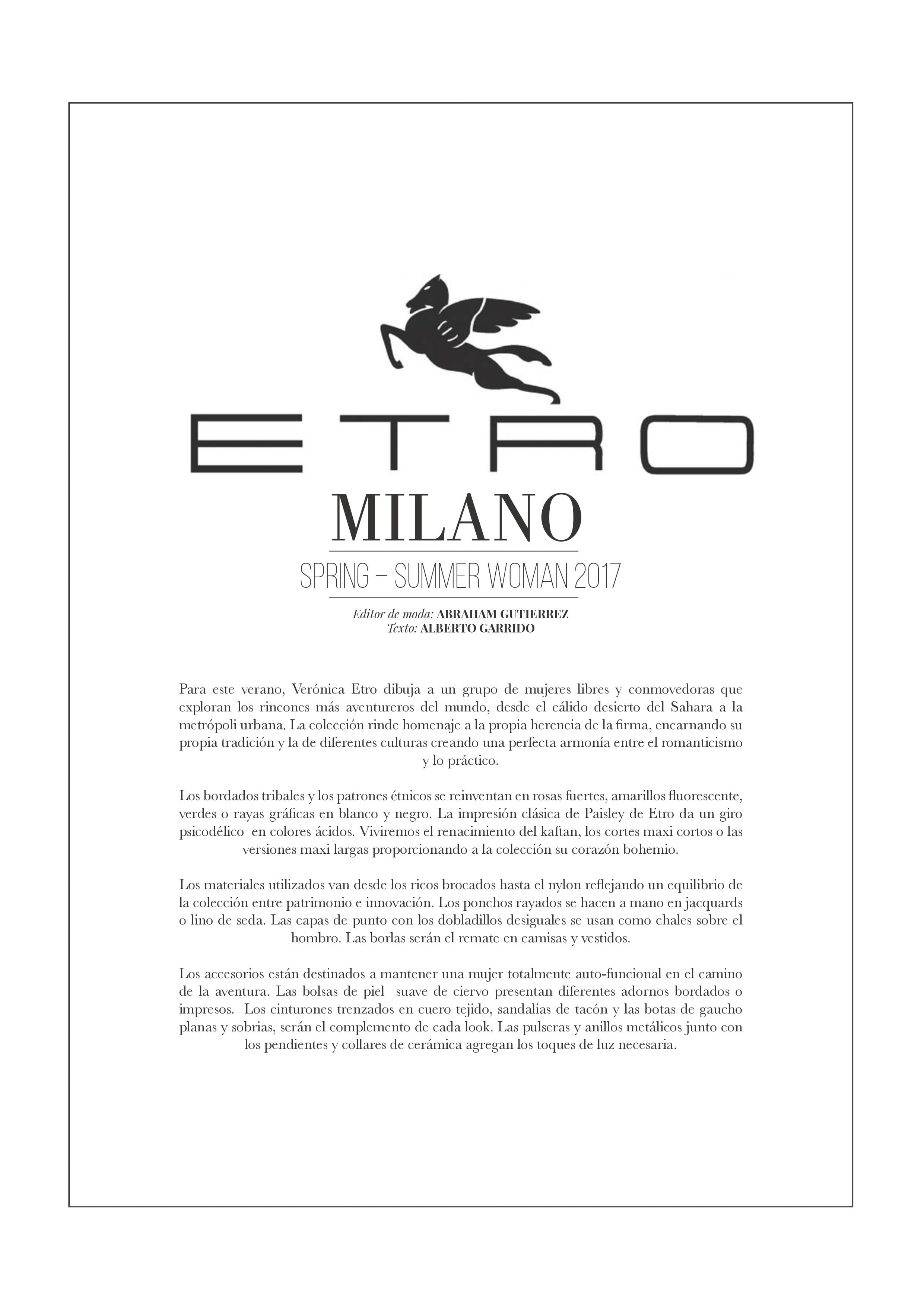 ETRO Milano Spring-Summer Woman 2017 - Influencers