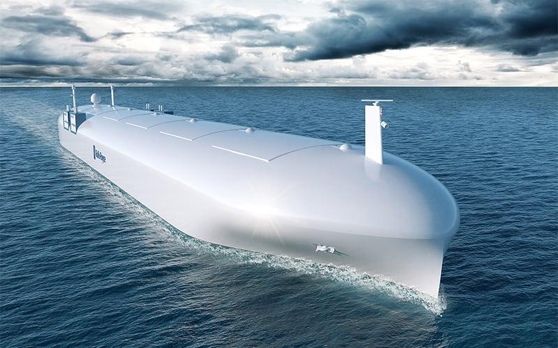 El barco de mercancías autónomo llegará en 2020.