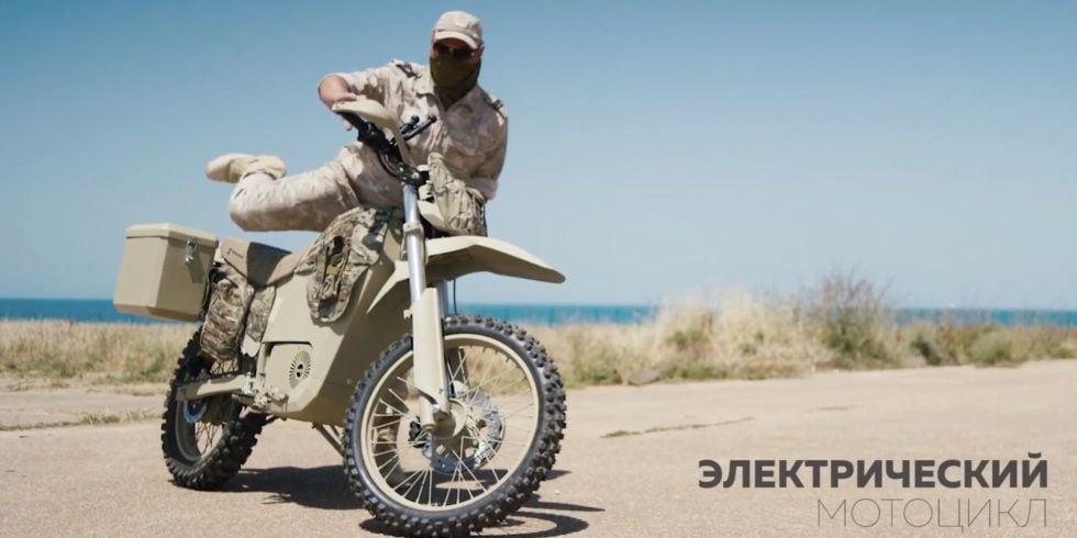 motocicleta eléctrica Kalashnikov