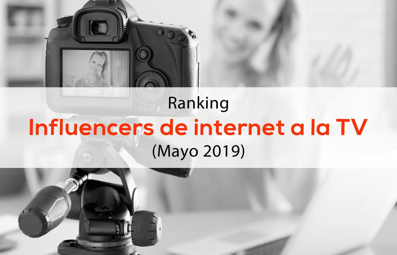 Ranking Influencers de Internet a la televisión