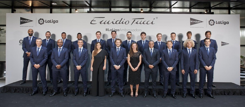 Emidio Tucci y los embajadores de la liga