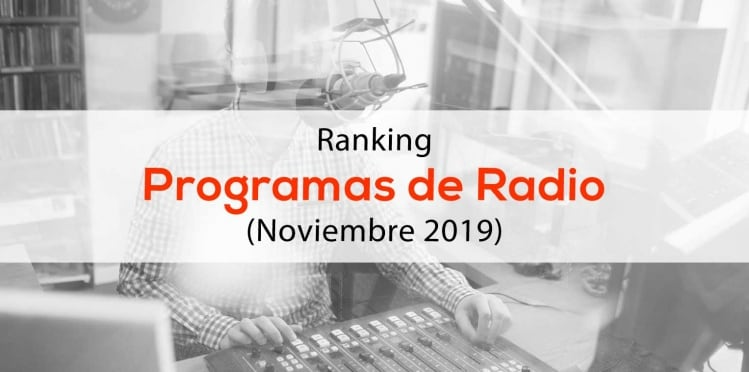 ranking influencers programas de radio
