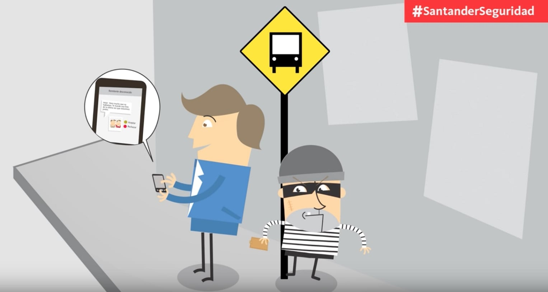 Consejos sencillos de ciberseguridad del Banco Santander