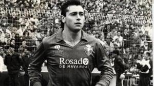 Robinson como jugador de Osasuna