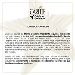 Comunicado oficial Starlite