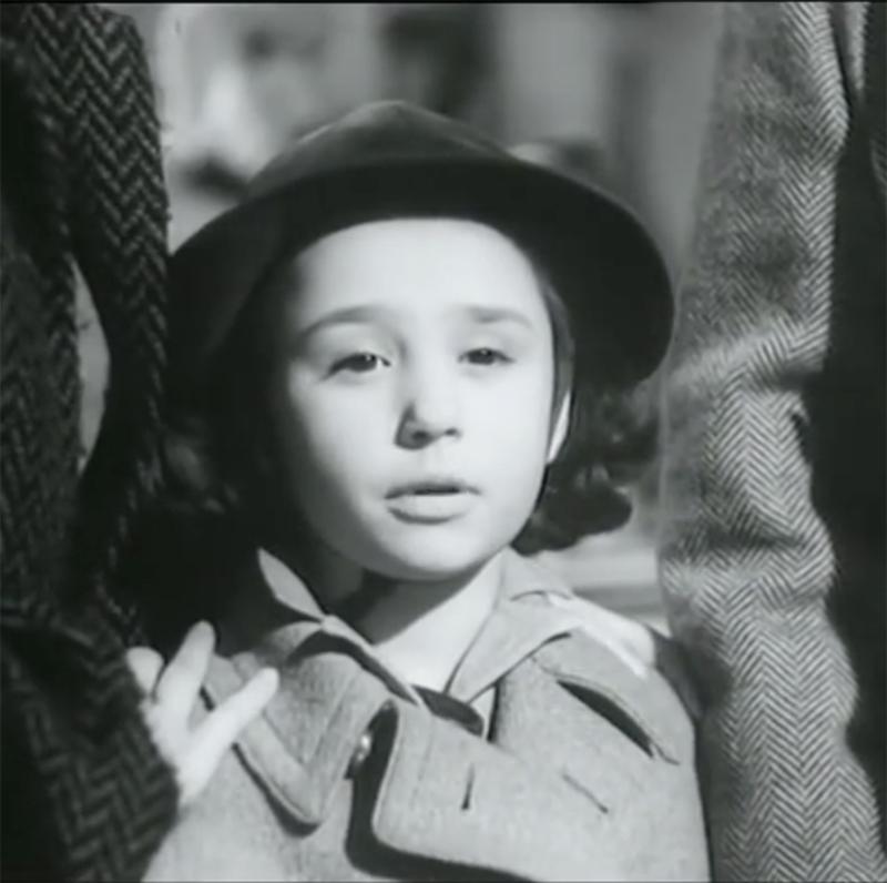 Raffaella Carrà en Tormento del pasado (1952), su debut a los nueve años.